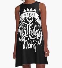 Happy Birthday Nancy  A-Line Dress