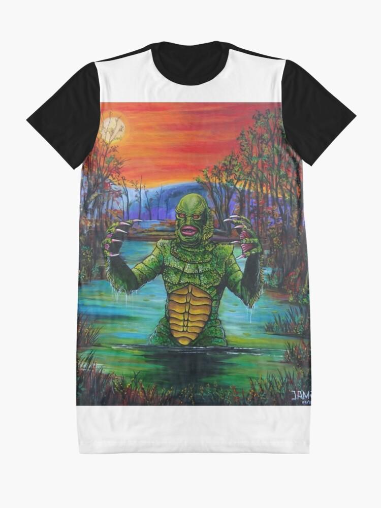 Vista alternativa de Vestido camiseta Creature from the Black Lagoon
