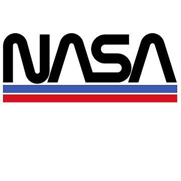NASA Logo Stripes by Moiza