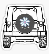 Jeep with Tire Cover  Sticker