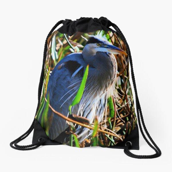 Single Blue Drawstring Bag