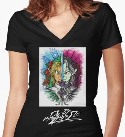 3rd Link Women's Fitted V-Neck T-Shirt