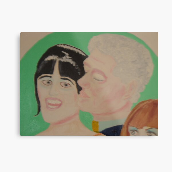 Mr President-Bill Clinton & Miss Monika in Love Metal Print