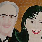 Mr Rupert Murdoch and wife Wendy  by Sunil