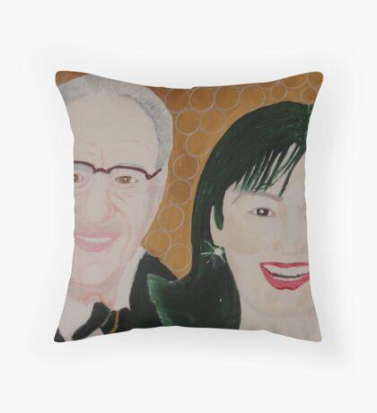 Mr Rupert Murdoch and wife Wendy  Throw Pillow