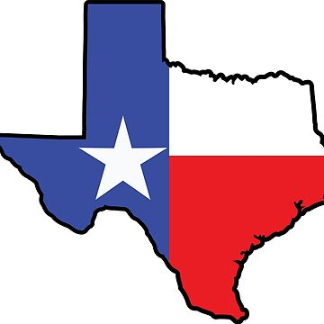 Texas Flag Texas Shape by richdelux