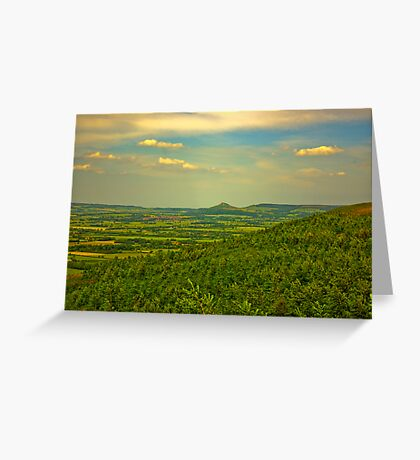 Looking Towards Roseberry Topping. Greeting Card