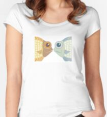 Fish Greetings Women's Fitted Scoop T-Shirt