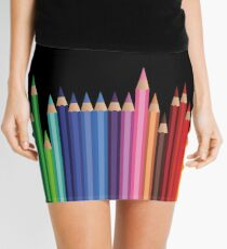 Teacher and art student colored pencils Mini Skirt
