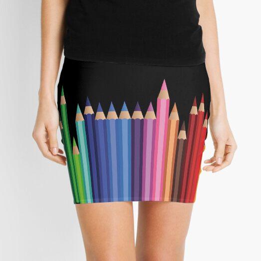 Teacher and art student colored pencils Mini Skirt