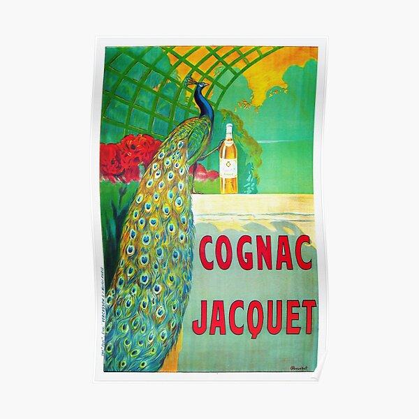 Cognac Jacquet Vintage Peacock Poster Poster