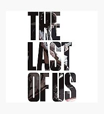 Lámina fotográfica The Last of Us Logo con Ellie.