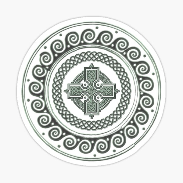 Awesome Celtic Cross Sticker