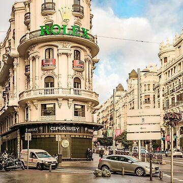 Gran Via Street, Madrid, Spain by DFLCreative