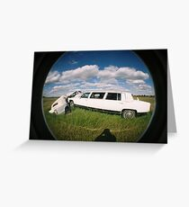 limo crash Greeting Card