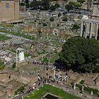 Forum Romanum - a birdseye view by hans p olsen