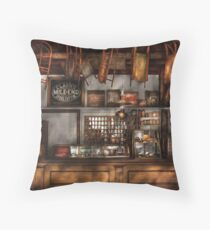 Old Fashioned Super Store Throw Pillow