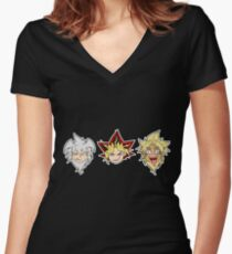 Yu-Gi-Oh! Yamis Women's Fitted V-Neck T-Shirt