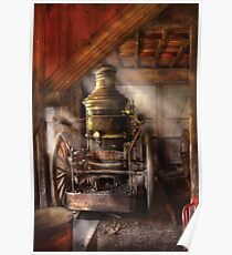 Steam Powered Water Pump Poster
