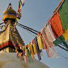 Stupa & Prayer Flags by Darren Newbery