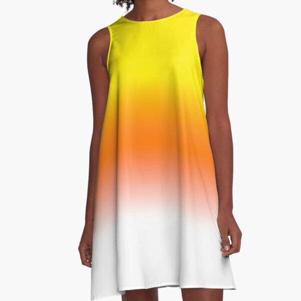 Vestido de verano vestido con degradado de color vigas vestido de verano amarillo anaranjado