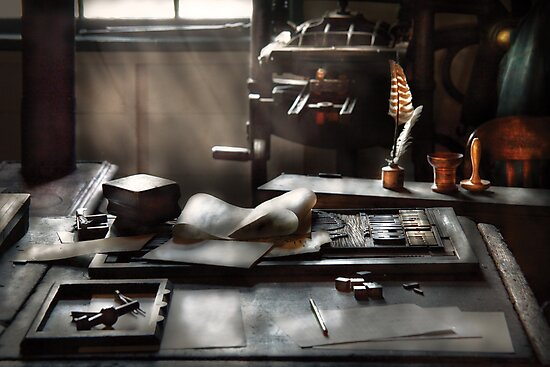 Graphic Artist - At the Printers Office by Michael Savad
