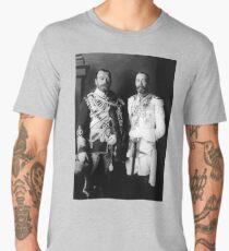 Tsar Nicholas II and King George V - Royal Cousins - 1913 Men's Premium T-Shirt