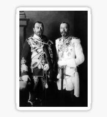 Tsar Nicholas II and King George V - Royal Cousins - 1913 Sticker