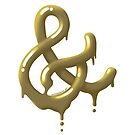 Liquid Gold Ampersand by designermike