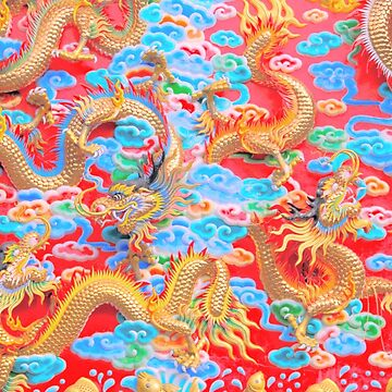 red and gold dragons by rhoadsette