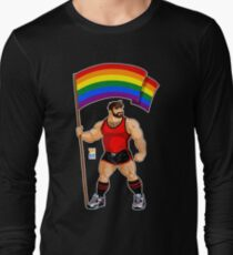 ADAM LIKES PRIDE FLAG - RED OUTFIT Long Sleeve T-Shirt
