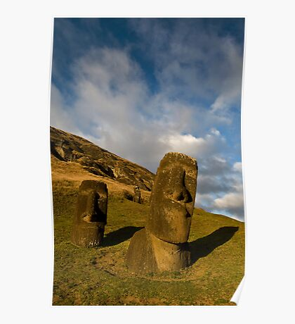 Raro Raruku, Easter Island. Poster