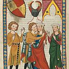 """Portrait of """"von Wengen"""", from the Codex Manesse by edsimoneit"""