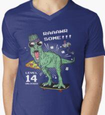Awesome Level 14 Unlocked Birthday Gift Shirt Year Old Mens V Neck