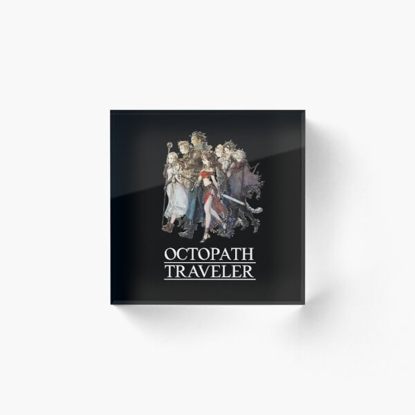 Octopath Traveler® - Travelers & Logo [w/ White Text] Acrylic Block