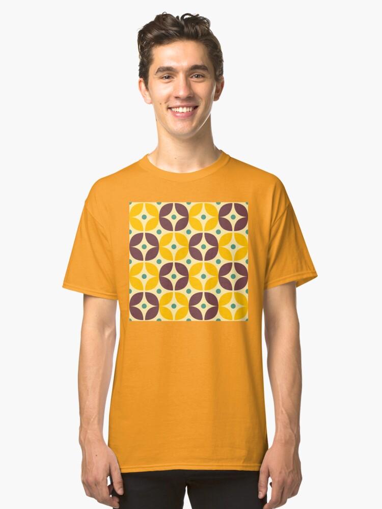 Alternate view of Geometric Pattern: Stylised Flower: Veronica Classic T-Shirt