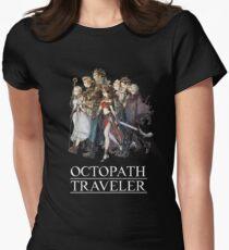 Octopath Traveler® - Reisende & Logo (weiß) Tailliertes T-Shirt