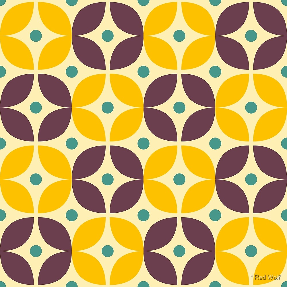 Geometric Pattern: Stylised Flower: Veronica by * Red Wolf