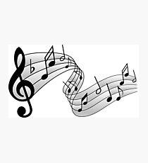 Notas Musicales Dibujo Láminas Fotográficas Redbubble
