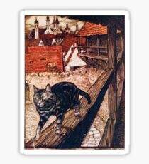 The Cat and Mouse in Partnership - The Brothers Grimm Sticker