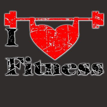 I love Fitness, T Shirts Funny by VitorMacedo