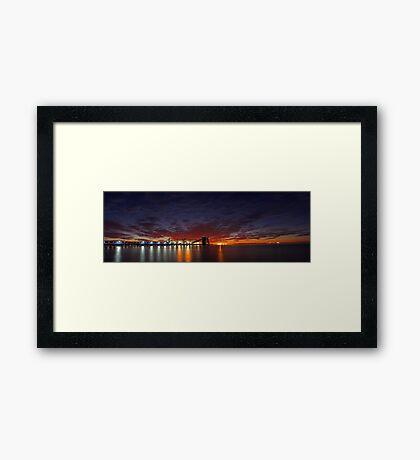 Kwinana Grain Terminal - Western Australia  Framed Print