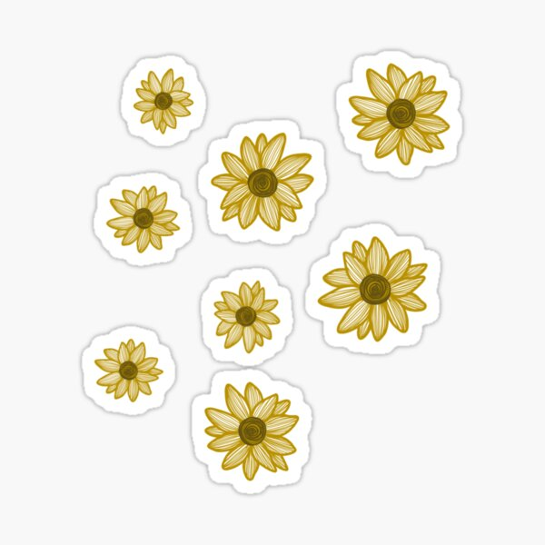 Baby Yellow Sunflowers Sticker