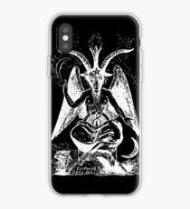 Satan Goat black iPhone Case