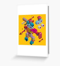 retro robot in style Greeting Card