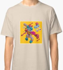 retro robot in style Classic T-Shirt