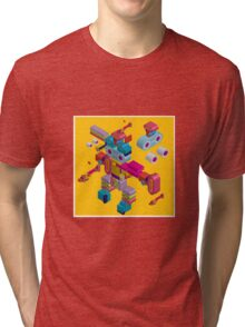 retro robot in style Tri-blend T-Shirt