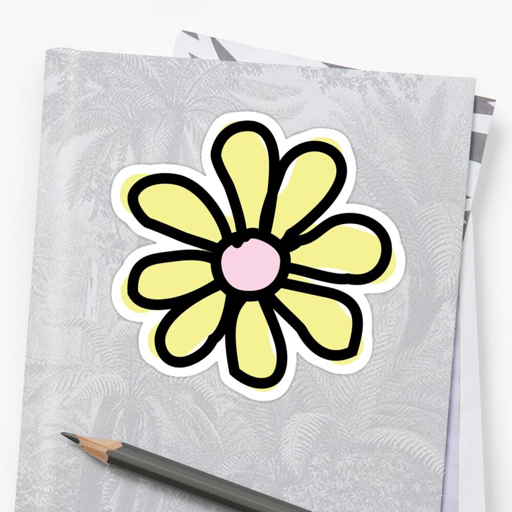 Gelbe Blume Sticker