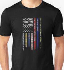 No one fights alone first responder tee shirt Unisex T-Shirt