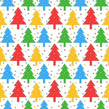 Colorful christmas trees pattern by mrhighsky